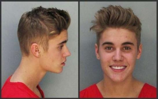 Justin Bieber's mug shot