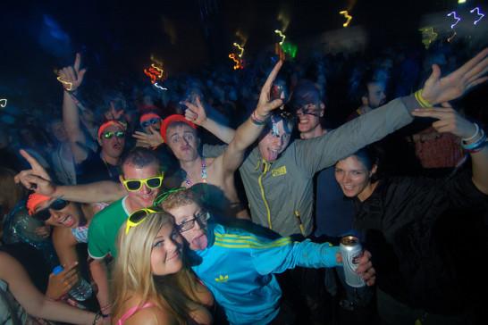 Festival goers at Creamfields