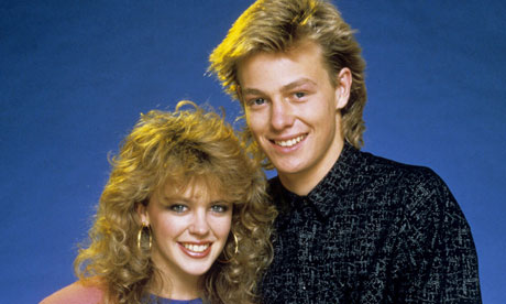 Kylie Minogue and Jason Donovan as Charlene and Scott