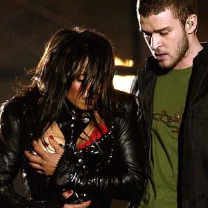 Janet Jackson and Justin Timberlake's infamous NFL half time show gaff