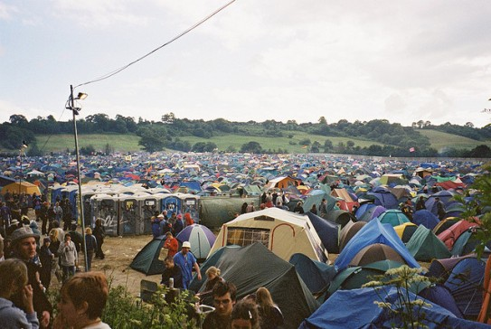 The fields at Glastonbury
