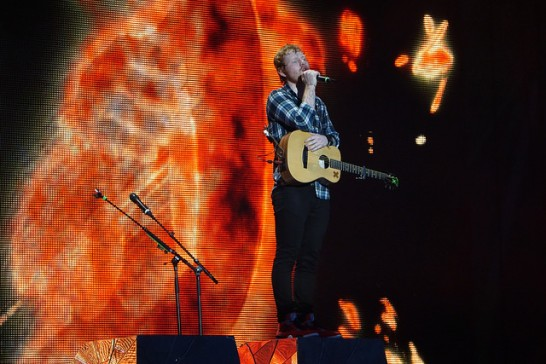 Ed Sheeran at Wembley 2015