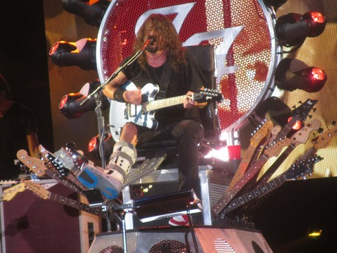 Dave Grohl in his Throne of Guitars
